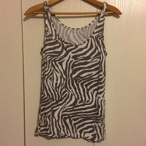 ANN TAYLOR LOFT zebra stripes tanktop